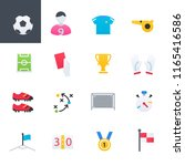 soccer colorful icons set ... | Shutterstock .eps vector #1165416586