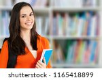 young student girl with... | Shutterstock . vector #1165418899