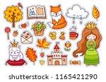 cute little princess  fox ... | Shutterstock .eps vector #1165421290