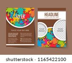 illustration of brochure flyer... | Shutterstock .eps vector #1165422100