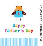 happy owl father day | Shutterstock .eps vector #116542474