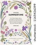 summertime. floral frame.... | Shutterstock .eps vector #1165426399