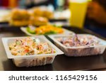 food at a fast food place | Shutterstock . vector #1165429156