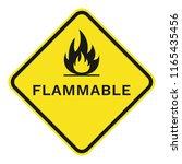 flammable sign. rhombus. vector. | Shutterstock .eps vector #1165435456