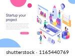 modern flat design isometric... | Shutterstock .eps vector #1165440769