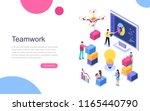 modern flat design isometric... | Shutterstock .eps vector #1165440790