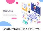 modern flat design isometric... | Shutterstock .eps vector #1165440796