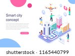 modern flat design isometric... | Shutterstock .eps vector #1165440799