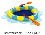 illustration of inflatable boat.Vector - stock vector