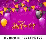 text happy halloween on an... | Shutterstock .eps vector #1165443523
