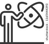 atom  bold line stick figure... | Shutterstock .eps vector #1165444393