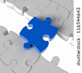Blue Jigsaw Puzzle Bridge Over...