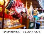 gingerbread hearts at german...   Shutterstock . vector #1165447276