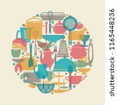 seamless vector pattern with... | Shutterstock .eps vector #1165448236