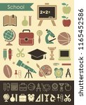 icons on the theme of school... | Shutterstock .eps vector #1165452586
