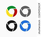 color disc set icon. chrome set ...