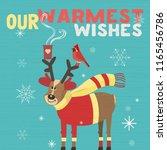 fancy seasonal poster. funny... | Shutterstock .eps vector #1165456786