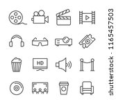 set simple line icons related... | Shutterstock .eps vector #1165457503