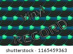 musical audio is an old vintage ... | Shutterstock .eps vector #1165459363