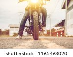 young man drive with motorbike... | Shutterstock . vector #1165463020