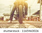 young man drive with motorbike... | Shutterstock . vector #1165463026