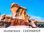 sandstone in red rock canyon... | Shutterstock . vector #1165468429