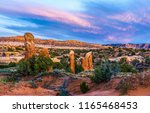 red rock canyon desert sunset... | Shutterstock . vector #1165468453