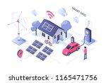 smart grid concept design. can... | Shutterstock . vector #1165471756