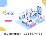 people in coworking office... | Shutterstock . vector #1165474483