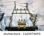 ac high voltage power... | Shutterstock . vector #1165474693