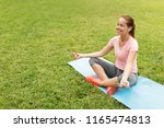 fitness  sport and technology... | Shutterstock . vector #1165474813