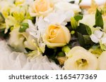 golden wedding decoration | Shutterstock . vector #1165477369