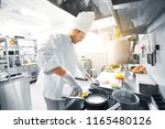cooking food  profession and... | Shutterstock . vector #1165480126