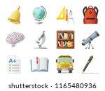 set of school icons  shool...   Shutterstock .eps vector #1165480936