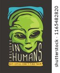alien t shirt design. i believe ... | Shutterstock .eps vector #1165482820