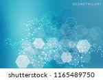 hexagonal abstract background.... | Shutterstock .eps vector #1165489750