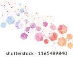 hexagonal abstract background.... | Shutterstock .eps vector #1165489840