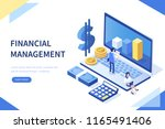 financial management concept.... | Shutterstock . vector #1165491406