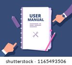 user guide document. user... | Shutterstock .eps vector #1165493506