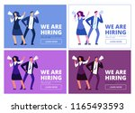 we are hiring concept. man and... | Shutterstock .eps vector #1165493593