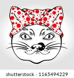 traditional japanese cat in... | Shutterstock .eps vector #1165494229