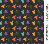 halloween seamless pattern with ... | Shutterstock .eps vector #1165499053