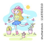 vector spring illustration of a ... | Shutterstock .eps vector #1165503310