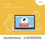online flat line training.... | Shutterstock .eps vector #1165505350