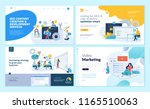 set of web page design... | Shutterstock .eps vector #1165510063