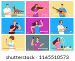 video tutorials. people... | Shutterstock .eps vector #1165510573