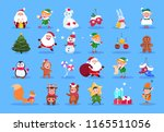 winter characters. cartoon... | Shutterstock .eps vector #1165511056