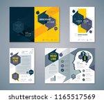 cover book design set  speech...   Shutterstock .eps vector #1165517569