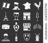 france travel icons set white...   Shutterstock . vector #1165523740