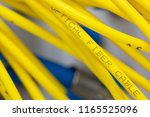 colored electrical cables and... | Shutterstock . vector #1165525096